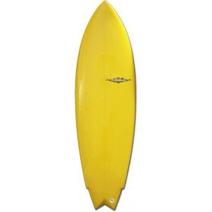 Model : The Heritage.  Shape : Flatnose + Vee Double concave au tail. Flute Wings et swallow tail avec dérives twin MR+trailer. Commentaire : Plutôt adapté aux petites vagues, ce model étonne par sa tenue dans les vagues creuses. On est proche du contrôle d'une shortboard avec la facilité de surf d'un longboard, l'encombrement en moins. Surfer le 3'' à 4'' plus court que votre shortboard.