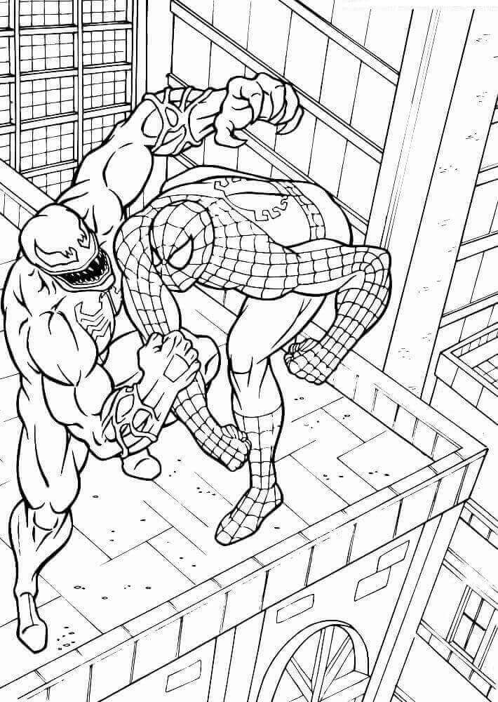 15 Free Printable Venom Coloring Pages | Spiderman ...