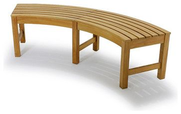 Buckingham Backless Bench transitional-outdoor-benches