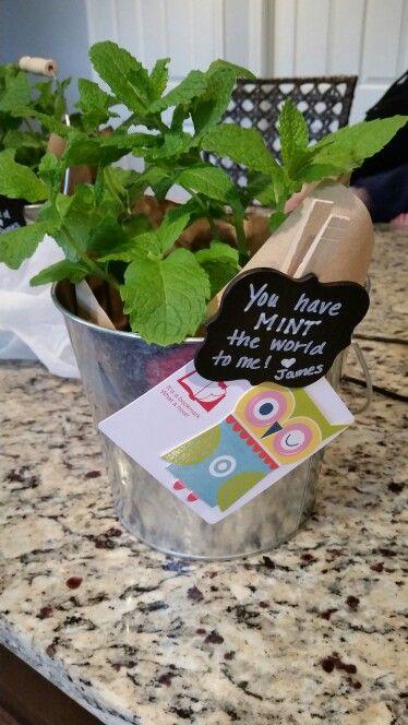 Teacher appreciation gift #herbs #punny #mint # teacher #appreciation