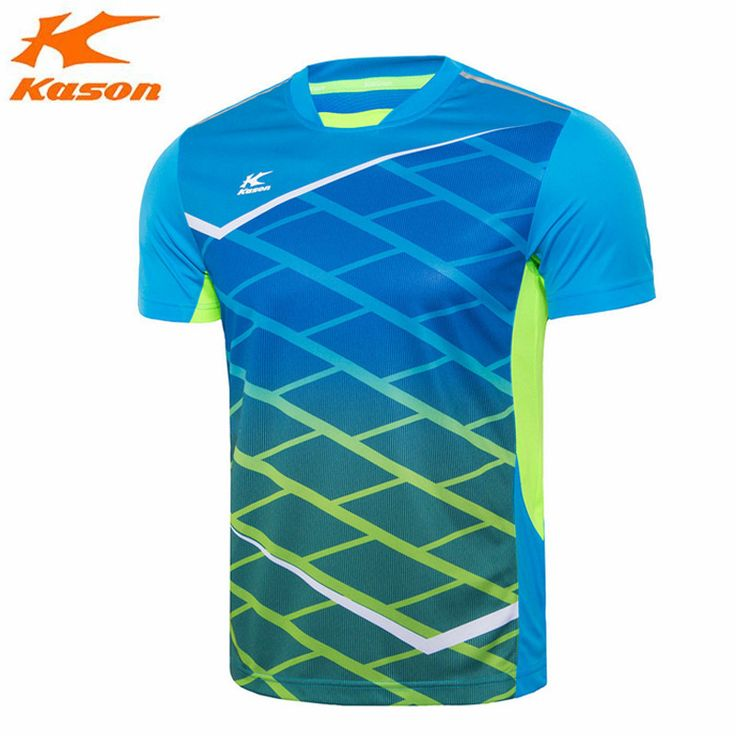 Kason Mens Badminton Shirts Quick Dry Fitness Man's Comfortable Sports Running T-Shirt Tee Breathable Jersey Tennis Top FAYH017
