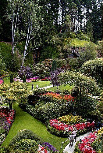 Butchart Gardens, Victoria, British Columbia.   #GILOVEBC
