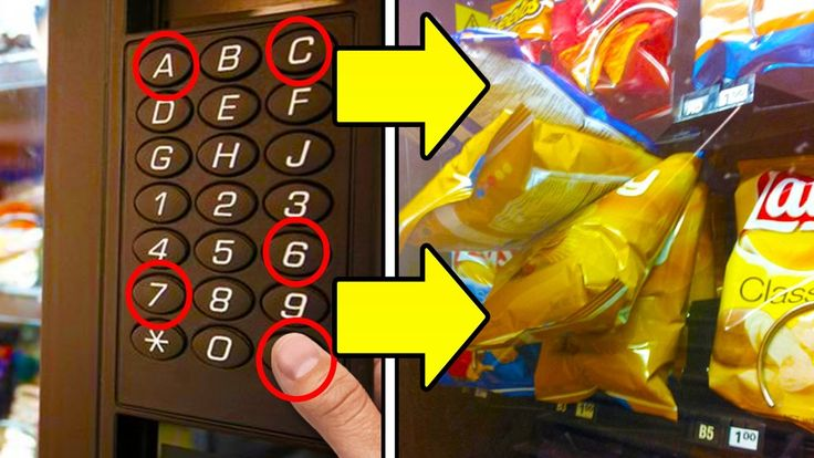 Get free snacks from any vending machine life hacks