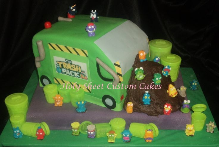 Trash Pack truck - Holy Sheet Custom Cakes