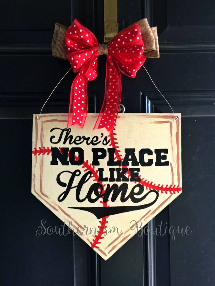 Wooden Door Hanger! Baseball door hanger, Home Plate Wooden Door Hanger, Home plate wreath, door decor, softball wreath, Baseball decor by Southernismboutique on Etsy https://www.etsy.com/listing/287808949/wooden-door-hanger-baseball-door-hanger
