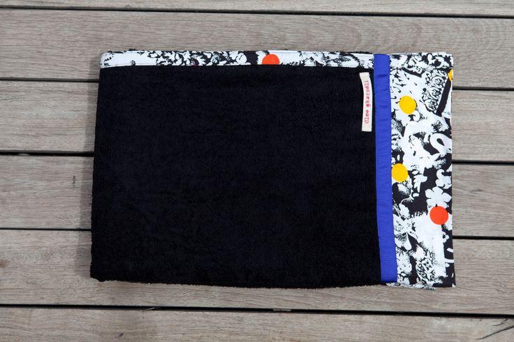 BLACK' N 'FUNKY Beach Towel by Cleo Gkatzeli