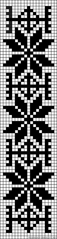 Flower  friendship-bracelet.Design would make a great cross stitch or quilt design.
