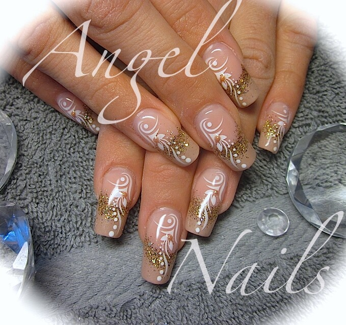 36 best bridal nail designs images on pinterest make up nail nice nude bridal nails prinsesfo Image collections