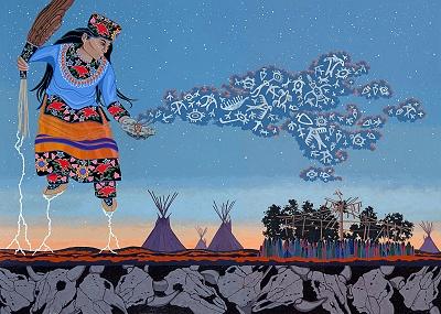 """Lightning Walker"", Chholing Taha, Cree:"