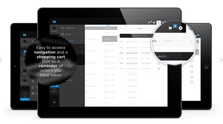 Morpheus Commerce app: navigation & shopping cart