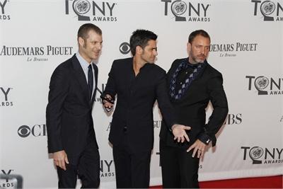Book of Mormon's Matt Stone and Trey Parker thrust w Stamos at The Tony Awards!