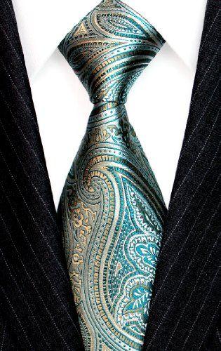 Lorenzo Cana - Italian 100% Silk Tie Turquoise Lightgreen Green Paisley Silver Jacquard Woven Necktie - 36090 LORENZO CANA,http://www.amazon.com/dp/B009HYES4Y/ref=cm_sw_r_pi_dp_AZb8sb1XTV0NSQYE