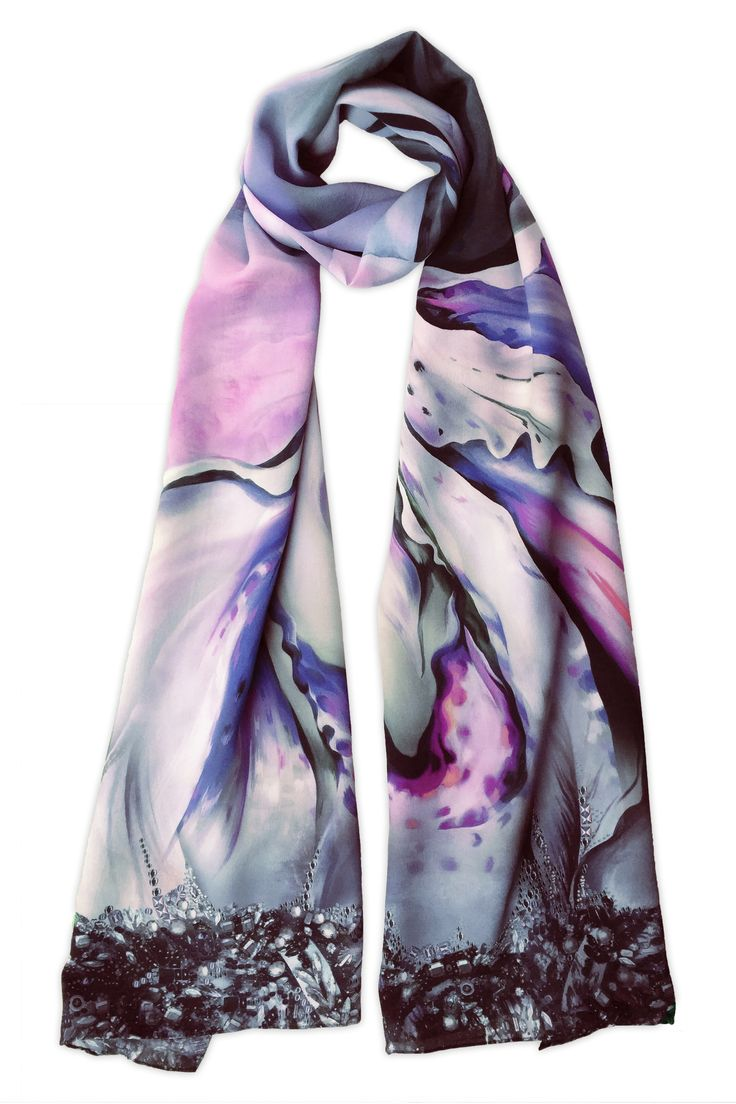 Shop the 'Florence' Luxury Silk Long Scarf online. All Leanne Claxton scarves are taken from a series of oil painted canvases by the artist, which are digitally transformed and printed onto 100% silk. View our Winter 2016 Digital collection, available in a range of colours, styles and sizes, at www.leanneclaxton.com
