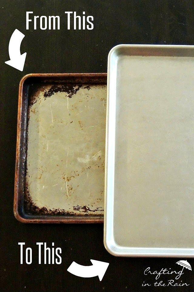 Make Baking Sheets Shiny Again Cleaning Baking Sheets Clean Baking Pans Clean Cookie Sheets