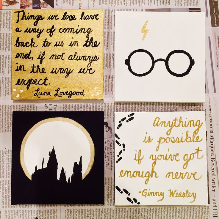 Harry Potter canvas set