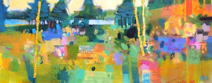 Francis Boag, Kinnordy Spring, Mixed Media | Scottish Contemporary Art