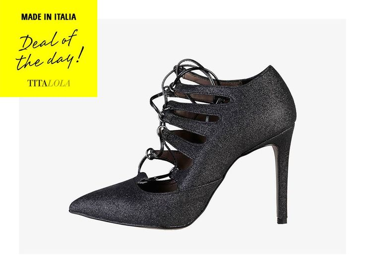 Made in Italia: decollété in eco-pelle con glitter.