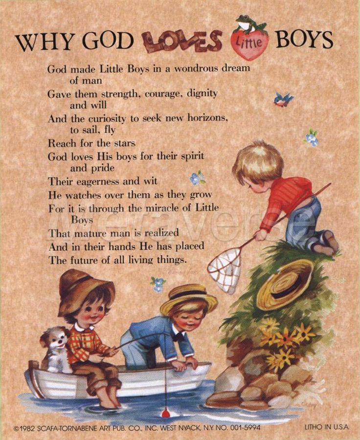 little boy poems and quotes | Why God Loves Little Boys ...