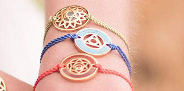 Click to shop the healing chakra bracelets from Daisy London  Available at the Ritz Spa