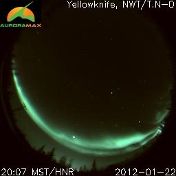 Live webcam of the Northern Lights from Yellowknife, NWT. This is really cool.