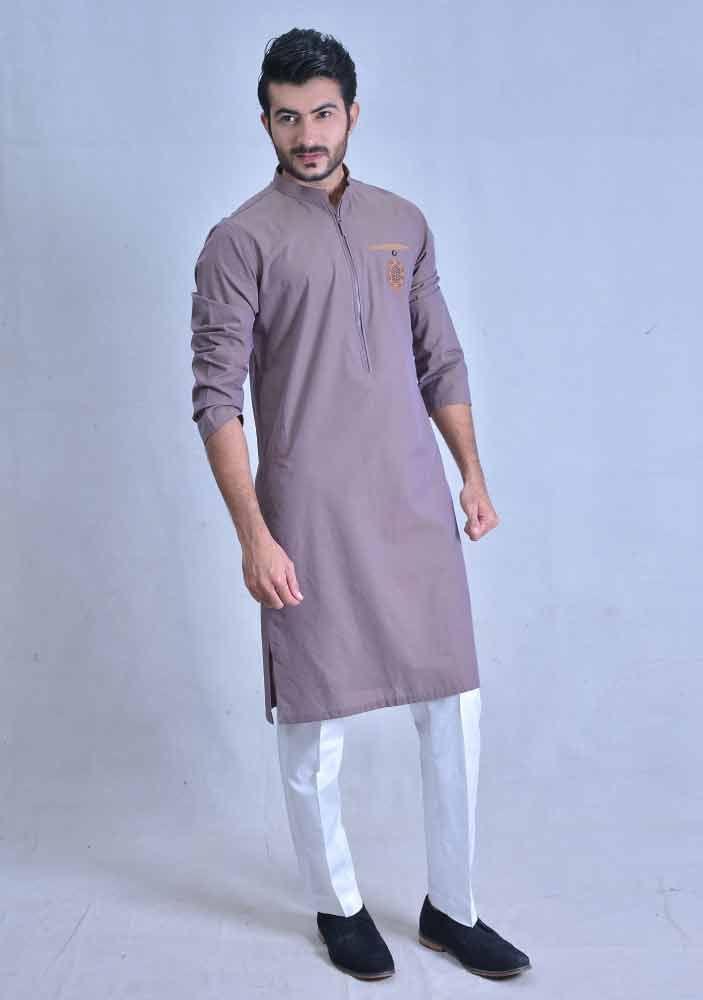 amazing purple best pakistani men kurta shalwar kameez designs 2017 with white shalwar