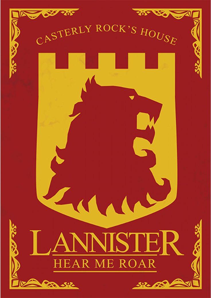 House Lannister - Game of Thrones - Ficção/Fantasia - Séries | Posters Minimalistas Mais