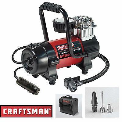 Craftsman Air Compressor Inflator Portable 12V Pump Car 100 PSI Tire Pressure