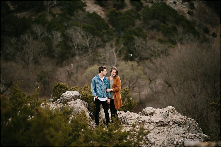 Chandler + Ryan _ an adventurous engagement session at Turner Falls, OK by North…