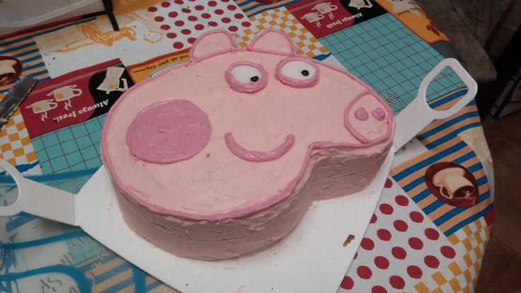 Peppa Pig Youngest's 4th Birthday 2015 (I think this is the easiest I've ever made!)
