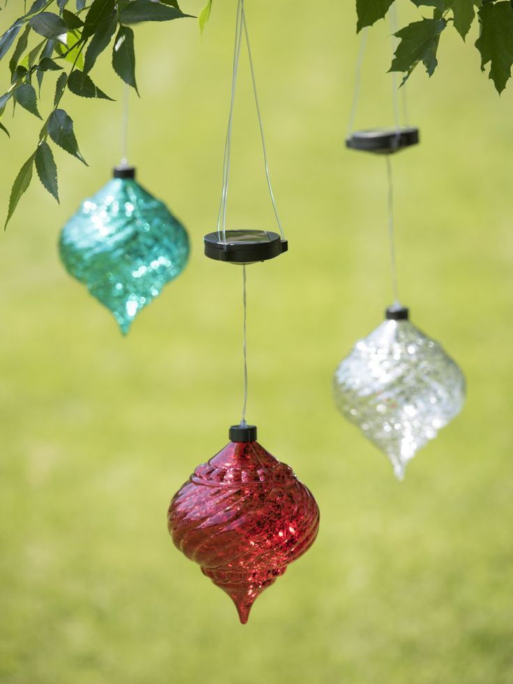 Large Outdoor Christmas Ornaments - Hanging Onion Solar Ornament
