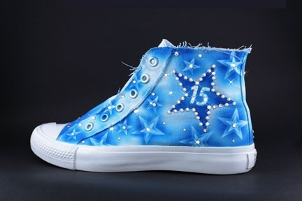 Converse Quince Shoes In Blue Quincenera Shoes