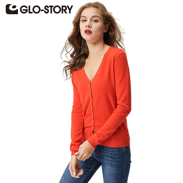 Special offer GLO-STORY Women Sweater Cardigans 2017 Lady Autumn Winter Knitted Plus size Jumper Women V-neck Sweater Coat Tops WMY-2604 just only $18.75 with free shipping worldwide  #womansweaters Plese click on picture to see our special price for you