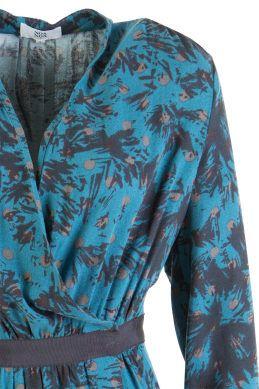 Noa Long Sleeve Wrap Dress - Womens Short Dresses - Birdsnest Online Store