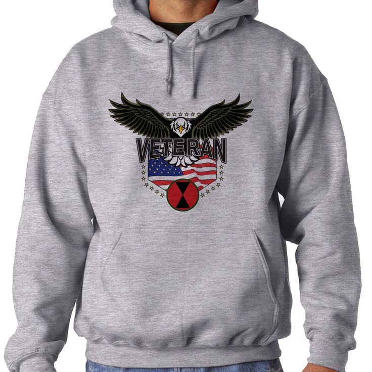 7th Infantry Division w/Eagle Hooded Sweatshirt. These Comfortable Hoodies are made from soft polyester & fleece to keep you warm and also provide moisture wicking technology for dryness. Our printing technology ensures high quality as the imagery will never crack, peel, unravel or fade over time.  Hooded Sweatshirts are Designed, Printed & Sublimated in the USA -Fabric Imported.