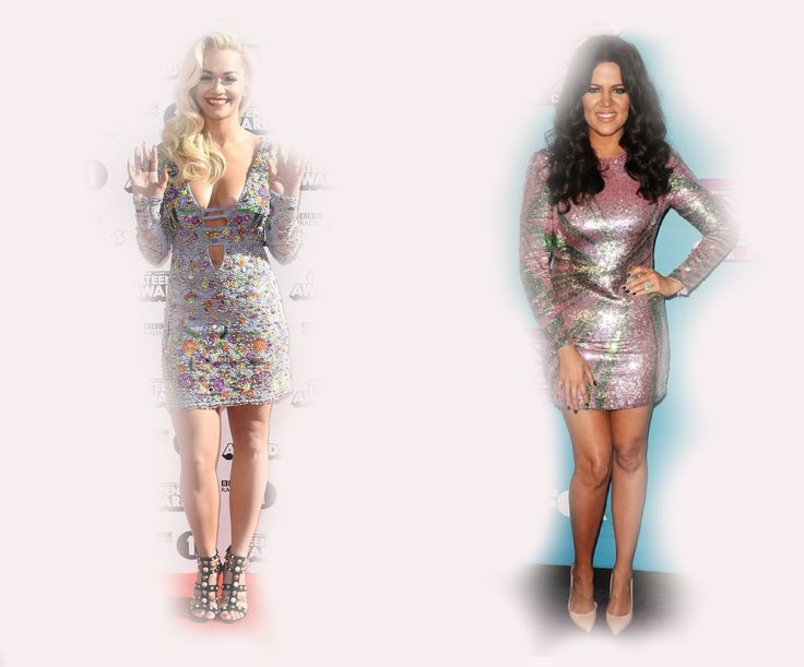 silver mini dress, Rita Ora VS Khloe Kardashian Odom fashion diva who-wore-it-better celeb celebrity