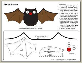 Free Felt Bat Pattern