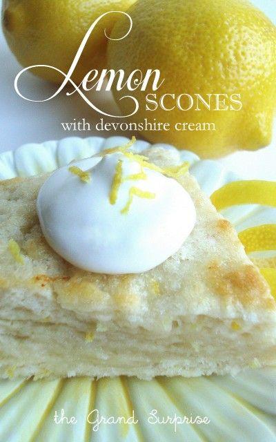 the Grand Surprise!: lemon scones
