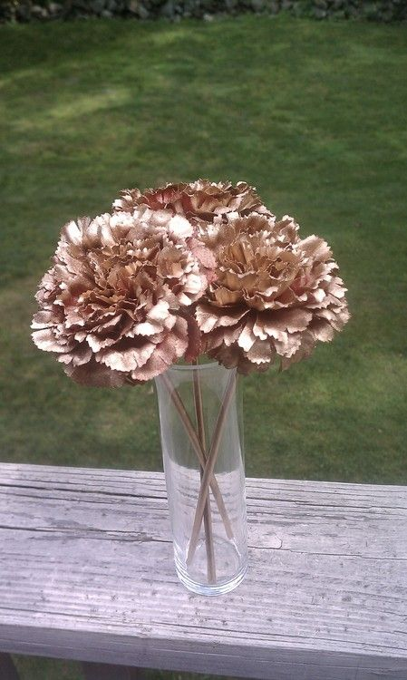 spray paint fake flowers
