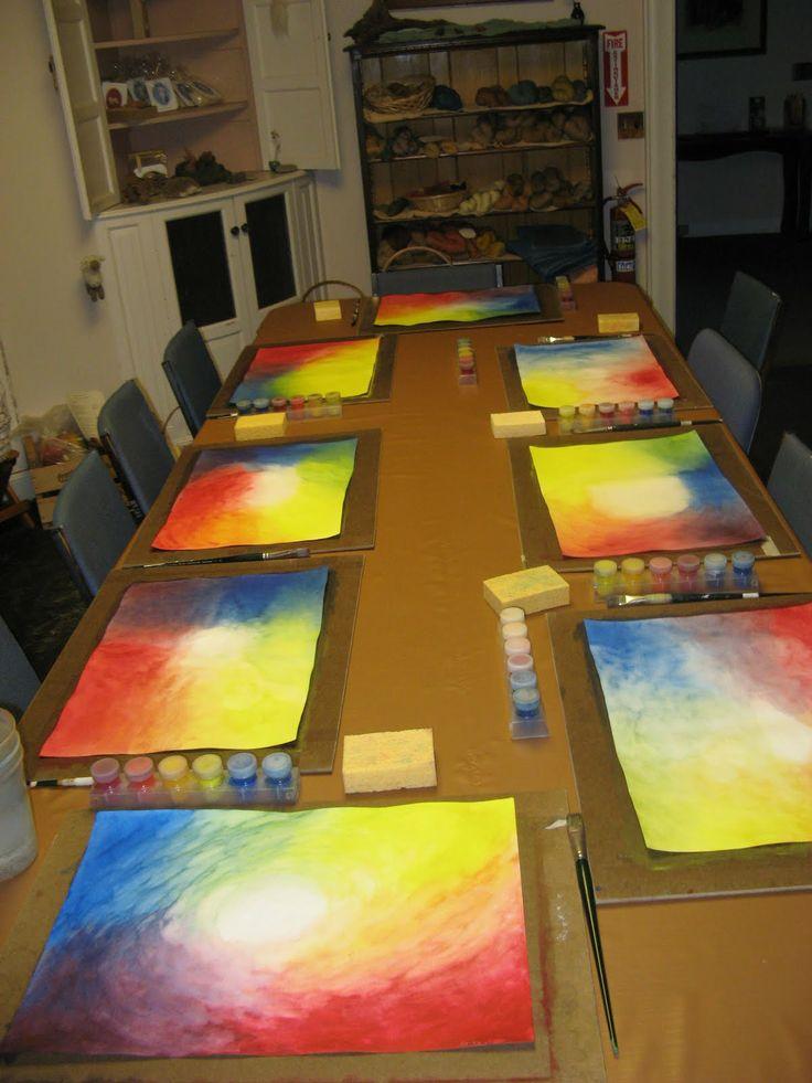 Teaching Handwork: veil painting