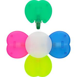 Lucky Leaf Highlighter Promotional Pens  Attractive four leaf clover shaped highlighter, with special wax cap off ink and generous print area.