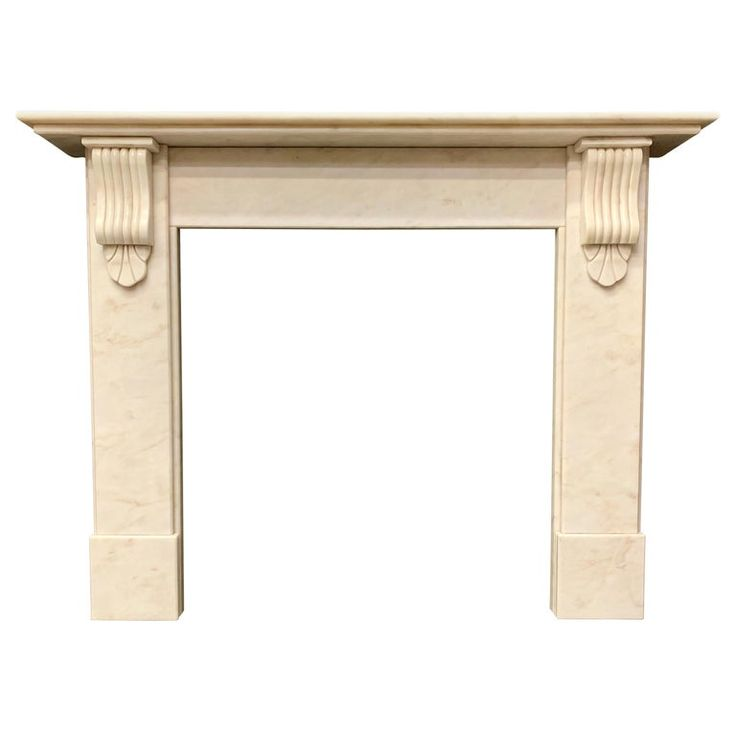 Victorian Manor Veined Statuary Marble Fireplace Surround