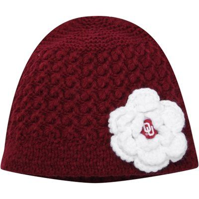 Women's Oklahoma Sooners Top of the World Crimson Maritime Knit Beanie
