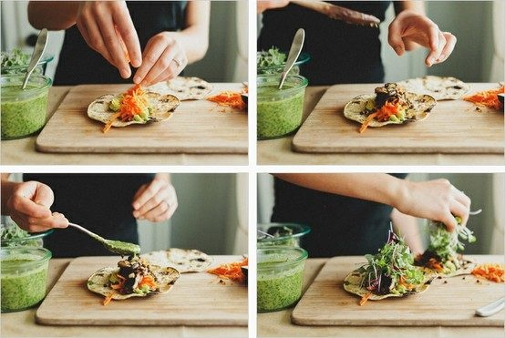Shitake Mushroom & Lentil Asian Tacos | pin | Pinterest
