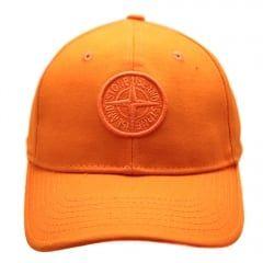Stone Island Junior Boys Orange Branded 61540 Cap