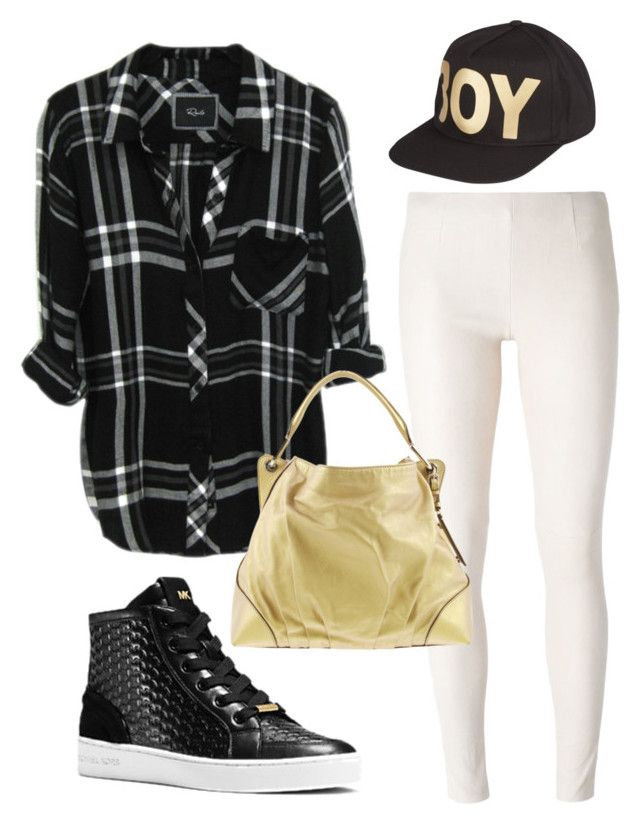 Golden sports by caterinami on Polyvore featuring moda, MM6 Maison Margiela, Michael Kors, Dolce&Gabbana and BOY London