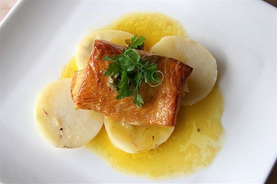 Grilled salmon with honey and mustard (Лосось на гриле с медом и горчицей)