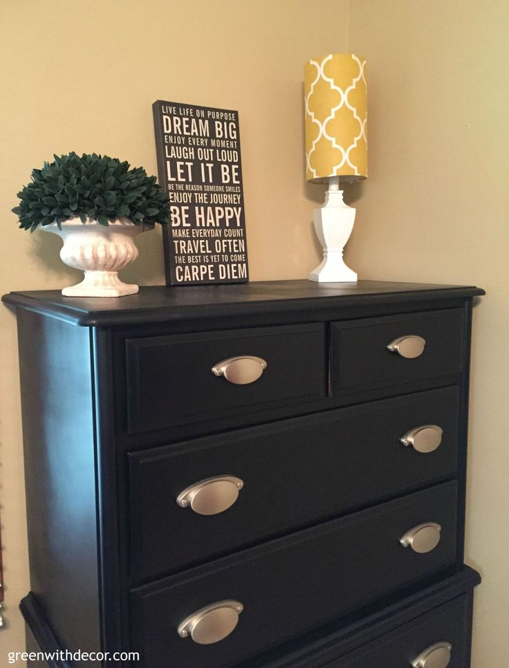 A dresser makeover with spray paint spray painting for Spray paint makeovers