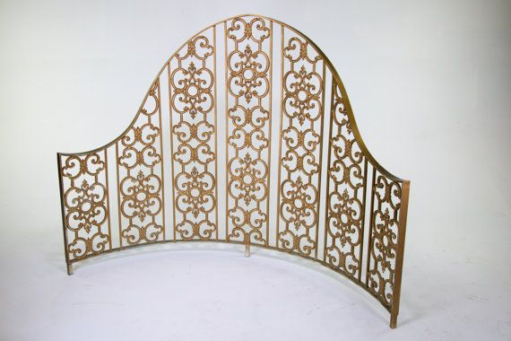 Vintage Victorian High Back Curved Headboard for BED, Hookah Lounge seating; Firepit BBQ Outdoor Seating; Kitchen Booth Seating - we can custom build your dream set up booth or seating or bedframe to go w this by VintageRescues on Etsy