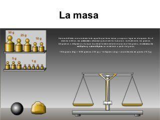 Temperatura, masa y volumen: densidad