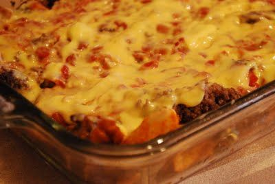 taco casserole with doritos | Add a top layer of crushed taco Doritos: